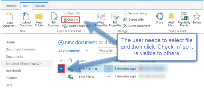 sharepoint check in hidden files