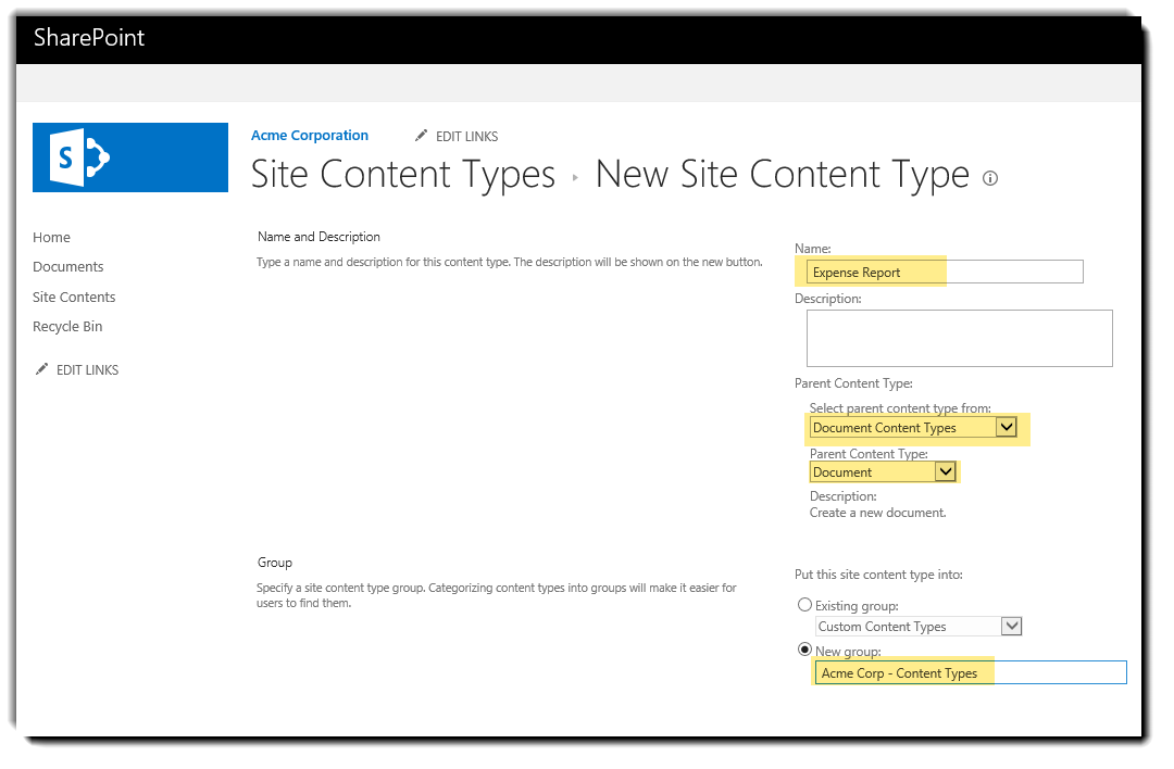 Using SharePoint Document Templates